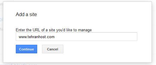 ثبت وبلاگ در گوگل وبمستر