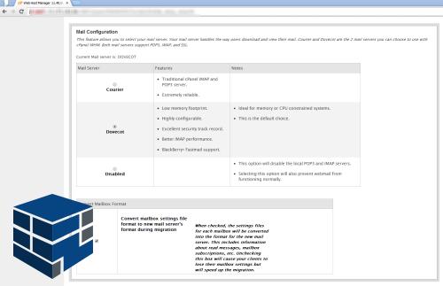 انتخاب میل سرور در صفحه نصب سی پنل whm
